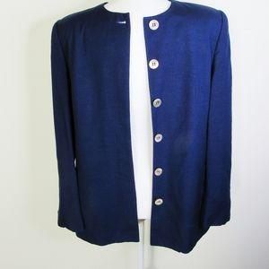 VTG! 80's Christian Dior The Suit Navy Blazer 12